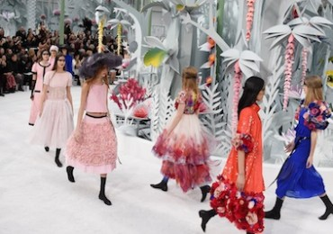 PARIS, FRANCE - JANUARY 27:  Models walk the runway during the Chanel show as part of Paris Fashion Week Haute Couture Spring/Summer 2015 on January 27, 2015 in Paris, France.  (Photo by Pascal Le Segretain/Getty Images)