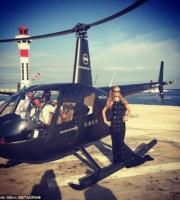 Anul trecut, in timpul Festivalului de la Cannes, celebra Paris Hilton s-a bucurat de zborul cu un astfel de elicopter