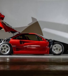 Ferrari F40 din 1989 poate fi admirat in galeria Tiriac Collection
