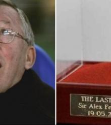 Ultima guma de mestecat a lui Sir Alex Ferguson, vanduta la licitatie, pe eBay, cu 390.000 de lire