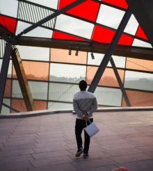 Tablou distrus la Centrul Pompidou